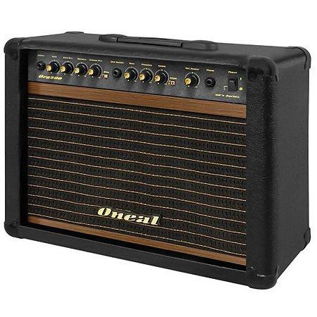 Cubo Amplificador Para Guitarra Oneal Ocg200 60w Preto Com Footswitch