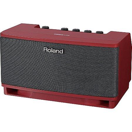 Cubo Amplificador Para Guitarra Roland Cube Lite Rd Vermelho