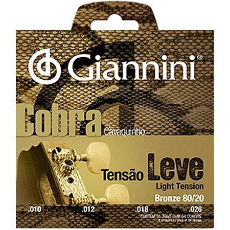 Encordoamento Giannini Cobra Para Cavaco Cc82l Leve