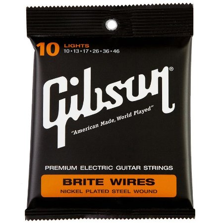 Encordoamento Gibson Para Guitarra 010  Brite Wires Seg 700L