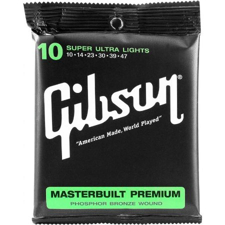 Encordoamento Gibson Para Violão 010 Masterbuilt Premium Mb10