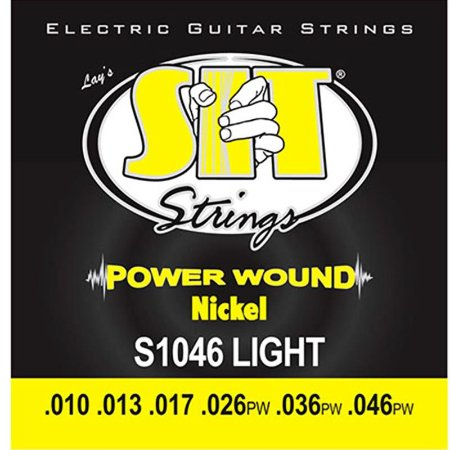 Encordoamento Guitarra 010 Sit Strings Power Wound Nickel S1046