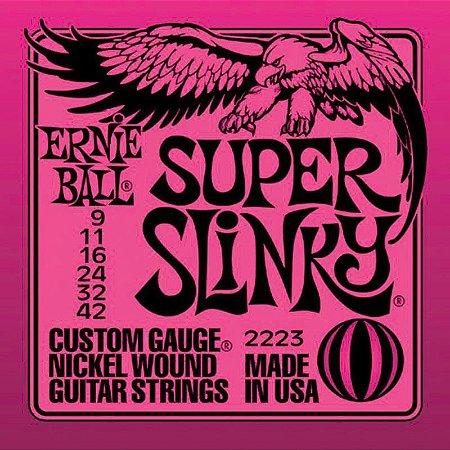 Encordoamento Guitarra 09 Ernie Ball Super Slinky 2223