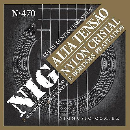 Encordoamento Nig Para Violão Nylon N470 Tensão Alta