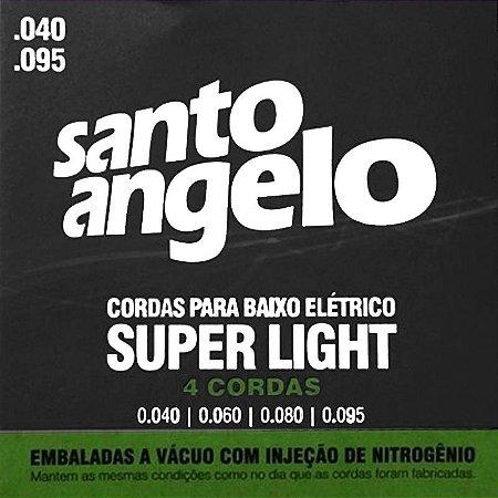 Encordoamento Para Contrabaixo Santo Angelo 4 Cordas 040/095