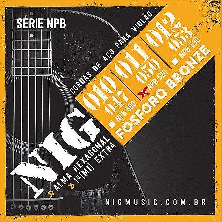 Encordoamento Para Violão Nig Aço 011 Fósforo Bronze NPB520