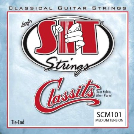 Encordoamento Para Violão Nylon Sit Strings Medium Tension Classits Scm101