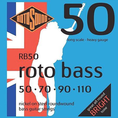 Encordoamento Rotosound Para Baixo Rb50 4 Cordas 050