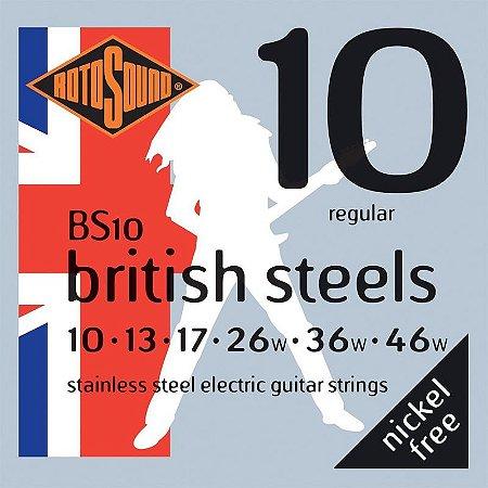 Encordoamento Rotosound Para Guitarra 010 British Steels Bs10