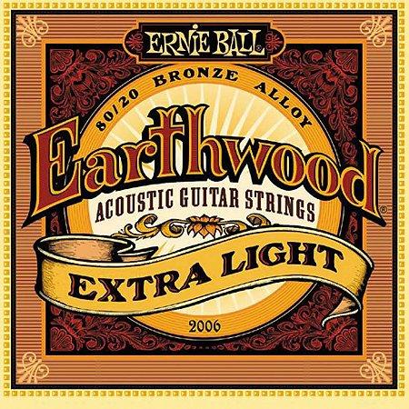 Encordoamento Violão Aço 010 Ernie Ball Earthwood 2006 Extra Light 80/20
