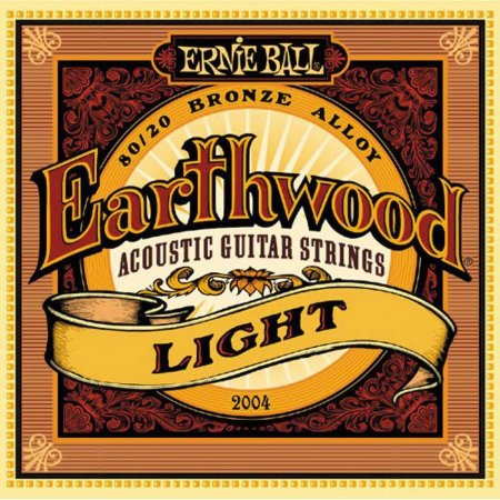 Encordoamento Violão Aço 011 Ernie Ball Earthwood 2004 Light 80/20