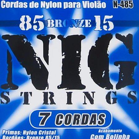 Encordoamento Violão Nylon 7 Cordas Nig N485 Com Bolinha