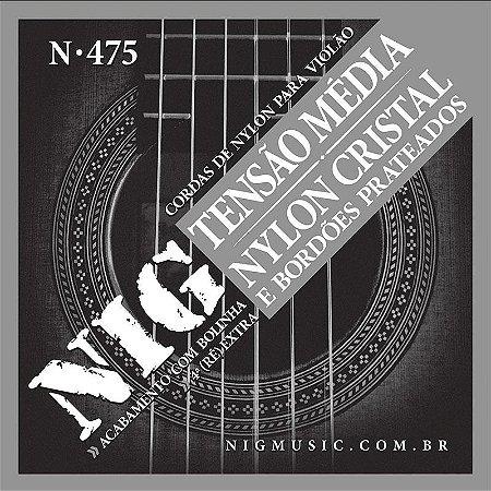 Encordoamento Violão Nylon Nig N475 Tensão Média Com Bolinha
