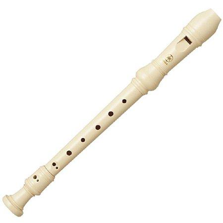 Flauta Yamaha Doce Soprano Germânica Em Dó Yrs23