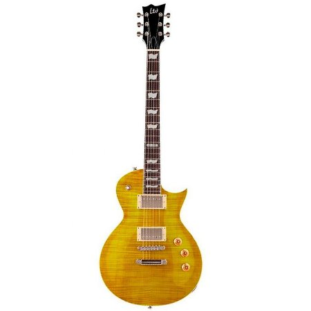 Guitarra ESP LTD EC-256 Lespaul Lemon Drop Mogno Top Flamed Maple