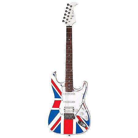 Guitarra Stratocaster Eagle Sts002 Uk Bandeira Inglaterra
