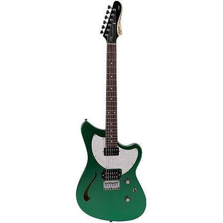 Guitarra Tagima Brasil Semi Acústica Jet Blues Verde Metálico