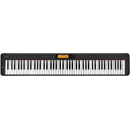 Piano Digital Casio CDP-S350 Preto Com Fonte + Pedal de Sustain