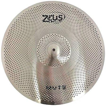 "Prato Zeus Mute Silent Low Volume Ride 20"" ZMR20 Aço"