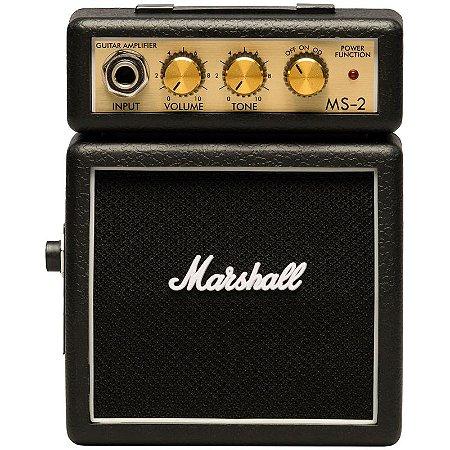 Amplificador De Guitarra Marshall MS-2-E Micro Stack Black