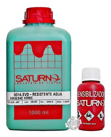 Kit Emulsão Verde Saturno Base Água + Sensibilizante