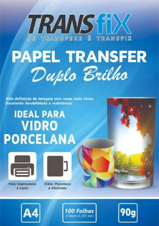 Papel Transfer Duplo Brilho Transfix