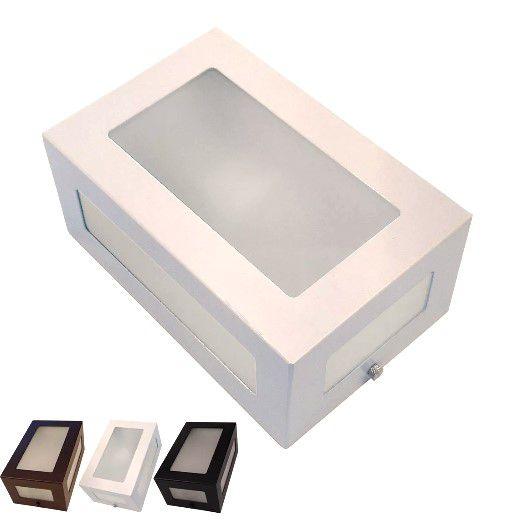 Arandela Parede Muro 5 Vidros Alumínio Externa ou Interna