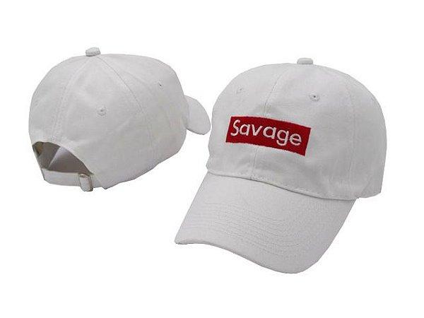 Boné aba curva Savage branco