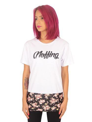 Camiseta Long Feminina Floral - Noffing Cloths