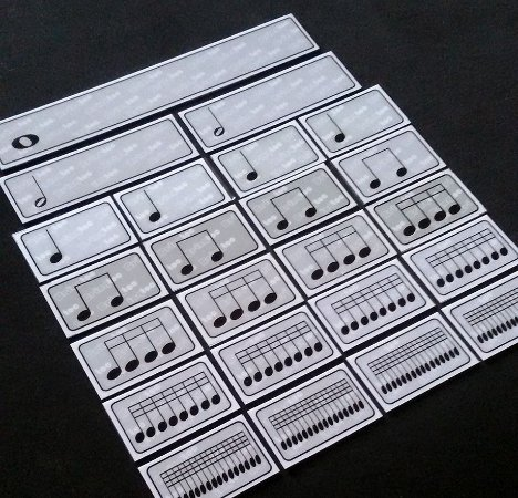 A23 - Figuras Musicais Pequenas Pares