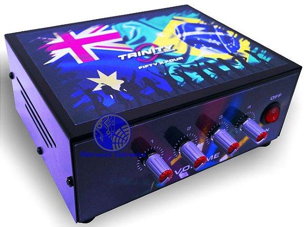 Amplificador De Mesa Trinity 4 Canais 200w Rms para Som Ambiente - Bí-volt Automático