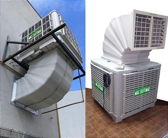 Climatizador De Ar Evaporativo Industrial Comercial Completo Com Duto e Grelha Eletrônica Para 250m²