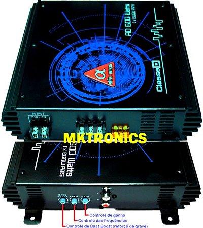 Modulo Amplificador Digital Alfa Amps 1 Canal 600W RMS para Woofer Subwoofer Corneta Super Tweeter