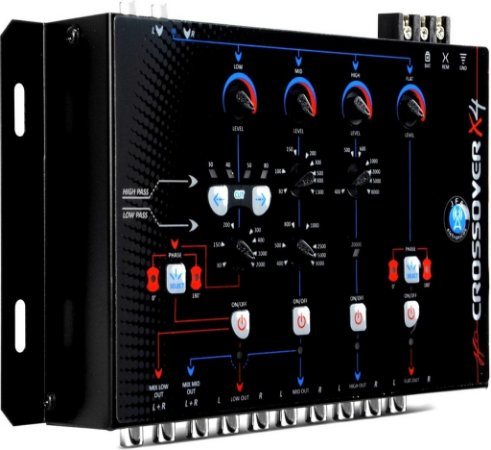 Crossover Digital Eletrônico JFA de 4 Vias X4 Corte 24db/8ª - Evita a Queimas no Som