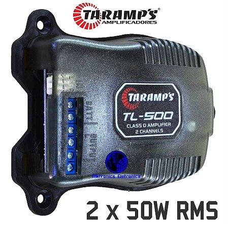 Módulo Amplificador Taramps Digital TL500 100W RMS 2 Canais 2 Ohms Classe D