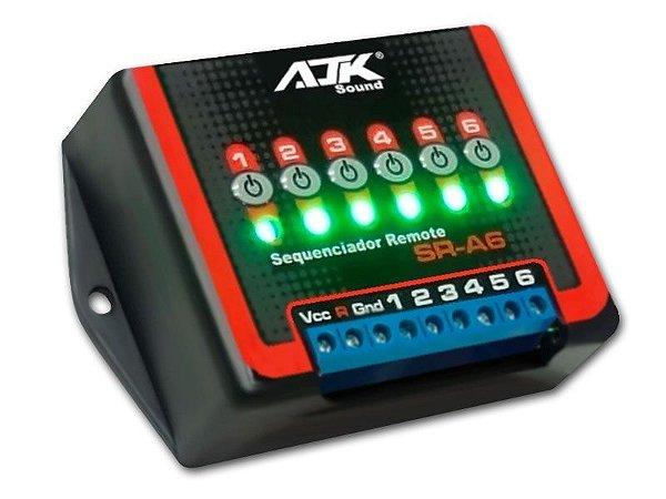 Sequenciador De Comando Remoto Ajk Sound SR-A6 - Para Ligação de Amplificadores em Sequencia