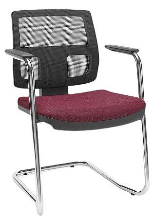 Cadeira BRIZZA Tela Aproximação Base cromada