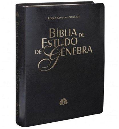 BÍBLIA DE ESTUDO DE GENEBRA Almeida Revista e Atualizada capa Sintético Preto