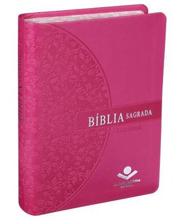 BÍBLIA SAGRADA LETRA GIGANTE - ROSA