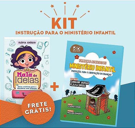 KIT- Instrução para Ministério Infantil- MALA DE IDEIAS + FIRMANDO AS BASES