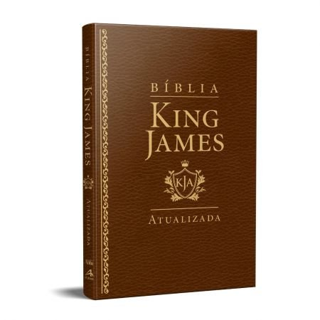 Bíblia King James KJA – SLIM – Capa Luxo Marrom