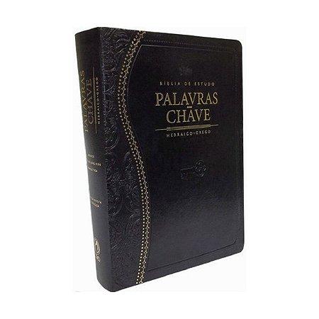 Bíblia de Estudo Palavras-Chave Luxo Preta (Clássica)
