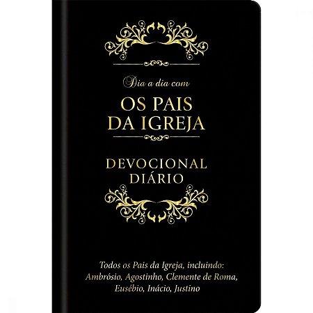 DIA A DIA COM OS PAIS DA IGREJA | DEVOCIONAL DIÁRIO | CAPA COURO| LUXO
