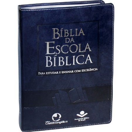 BÍBLIA DA ESCOLA BÍBLICA   CAPA AZUL