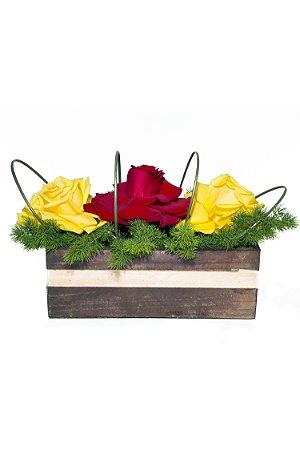 Arranjo de Flores Rosas encantadas