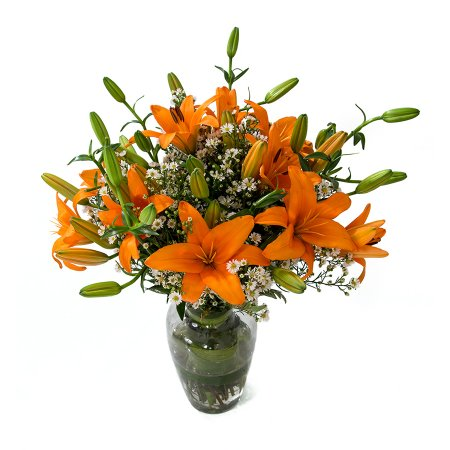 Buquê de Flores Alegria de Lírio laranja