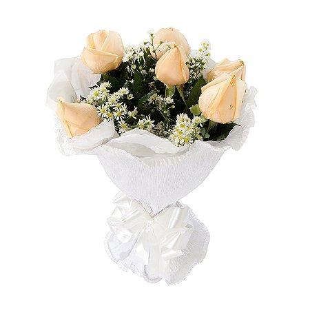 Buquê de Flores Fagulha de champanhe