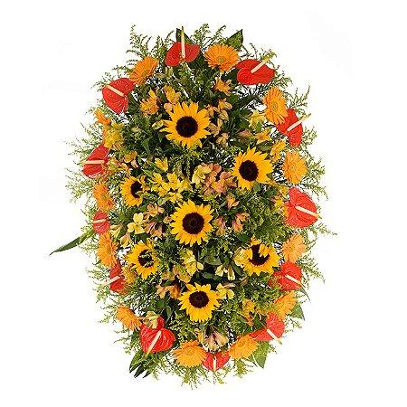 Coroa Funerária Pequena Tropical 70cm