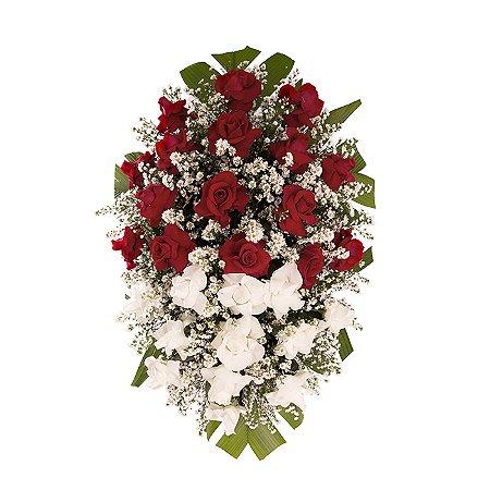 Coroa Funerária Grande de Rosas 130cm