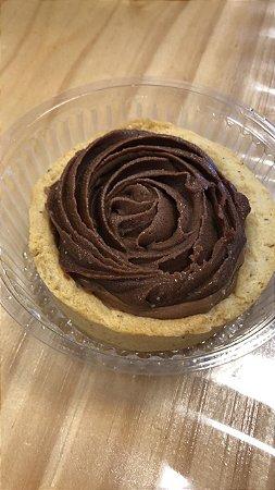 Tortinha de Nutella zero açúcar, porção individual.